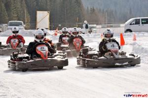 Go Kart auf Eis Wettbewerb