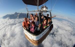 Heißluftballon Flug